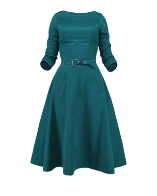 Rozkloszowana sukienka z rękawem CAMILL 164