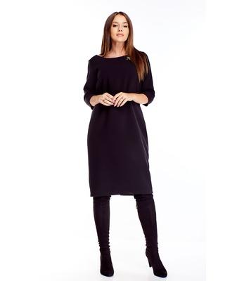 sukienka z broszką czarny