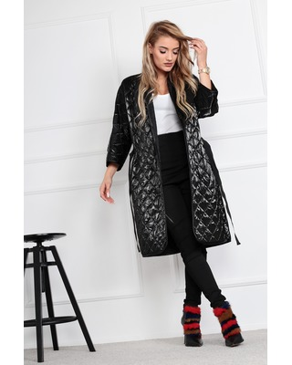 szlafrokowy płaszcz z...