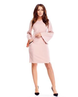sukienka z plisowanymi...