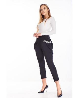 spodnie z bufiastymi...