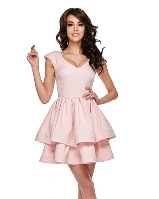 Różowa sukienka mini z...