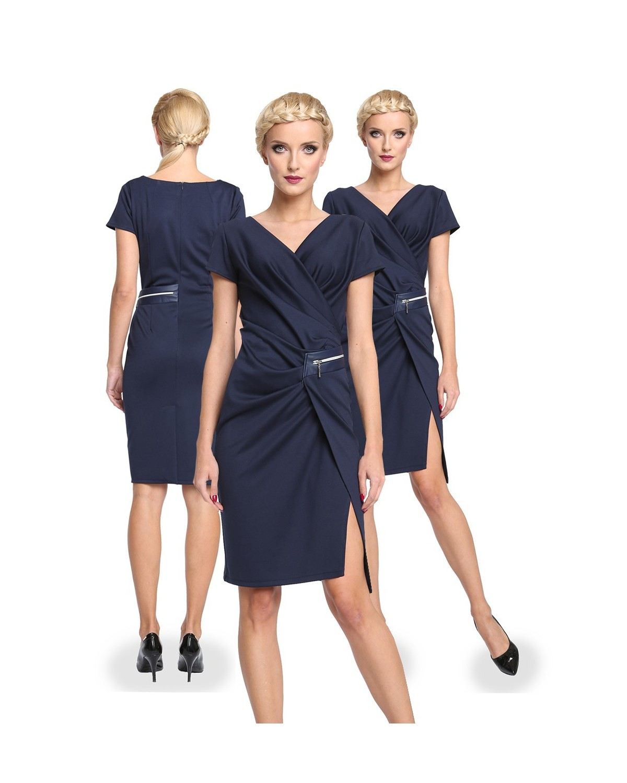 Wyszczuplająca , marszczona sukienka CAMILL 277