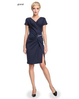 Wyszczuplająca , marszczona sukienka CAMILL 277 3