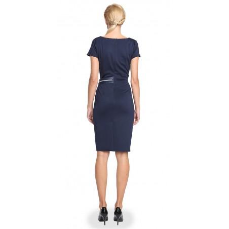 Wyszczuplająca , marszczona sukienka CAMILL 277 4