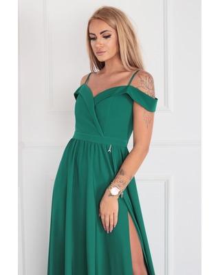 Długa zielona suknia z...