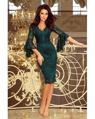 Ołówkowa sukienka z koronki...