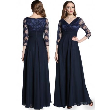 Długa koronkowa wieczorowa suknia CAMILL 302 6