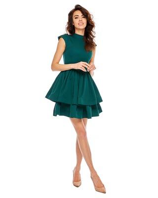 Zielona butelkowa sukienka...