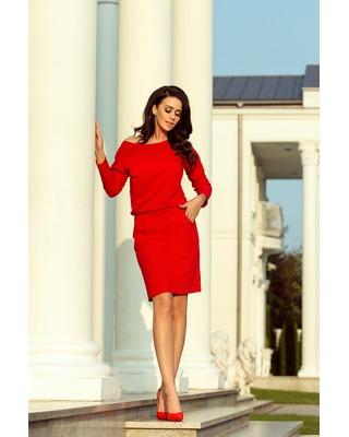 Dzianinowa sukienka  czerwony