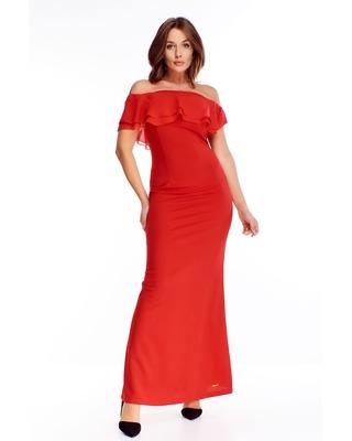 Czerwona sukienka maxi z...