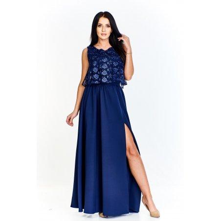 Sukienka maxi z dodatkową a'la bluzeczką z przejrzystej