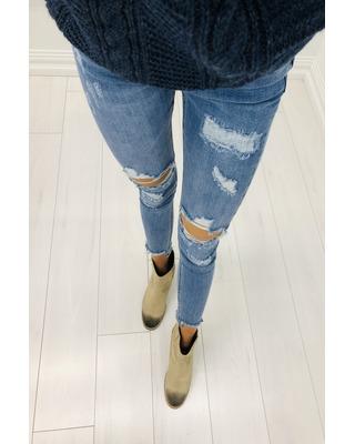 spodnie niebieski