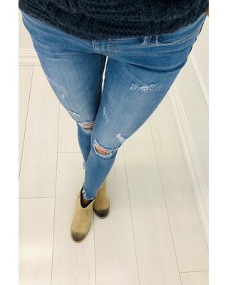 dżinsowe spodnie z...