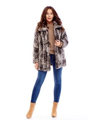 płaszcz z imitacji futra...