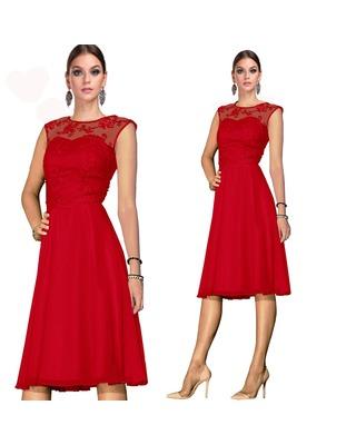 Wyszczuplająca rozkloszowana koronkowa sukienka CAMILL 309 1