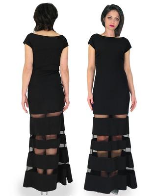 Camill 322 Długa,sexsowna sukienka w stylu syrenki na wesele,sylwester,studniówkę