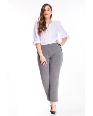 spodnie z wysokim stanem szary