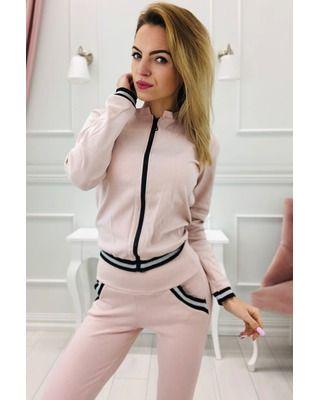 bawełniany dres różowy
