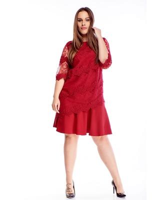 sukienka z haftowanymi...