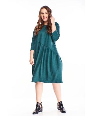 melanżowa sukienka z...