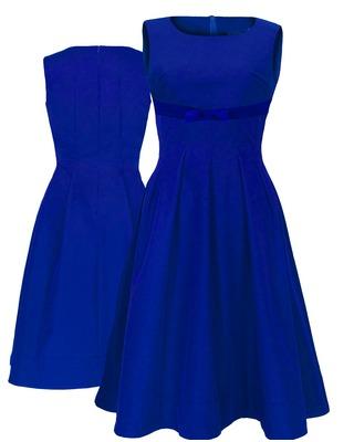 Rozkloszowana odcięta pod biustem wyszczuplajaca sukienka CAMILL 220 1