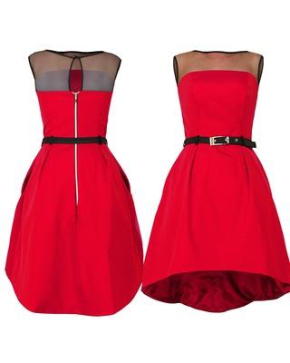 Asymetryczna gorsetowa sukienka CAMILL 222 1
