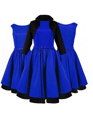 Rozkloszowana sukienka z bolerkiem CAMILL 160BBK 1