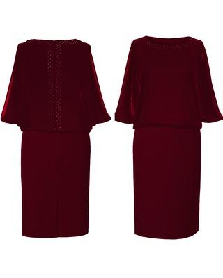 Sukienka kryjąca brzuszek z nietoperzowym rękawem CAMILL 185