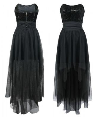 Gorsetowa tiulowa asymetryczna sukienka CAMILL 159 1
