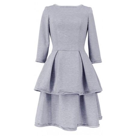 Sportowa rozkloszowana sukienka bez ramiączek CAMILL S4 1