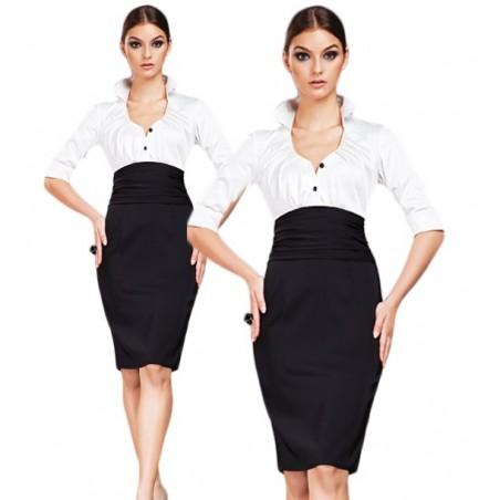 Klasyczna elegancka sukienka do biura CAMILL 106