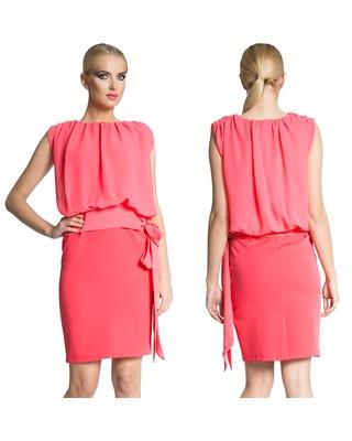 Elegancka sukienka kryjąca brzuszek CAMILL 235 1