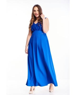 Chabrowa sukienka maxi z...