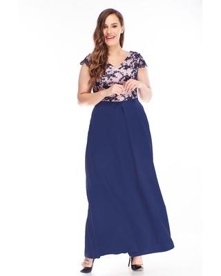 sukienka maxi z haftowaną...