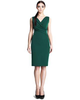 Ołówkowa sukienka z kopertowym dekoltem CAMILL 242 1