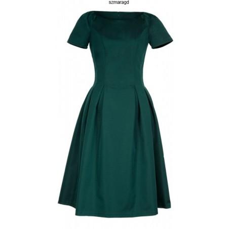 Klasyczna sukienka w kontrafałdy z rękawkiem CAMILL 182 12