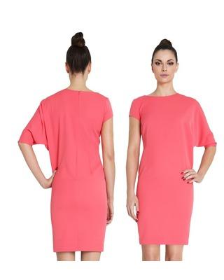 Asymetryczna sukienka z rękawem na imprezę CAMILL 258 1