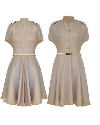 Zwiewna sukienka typu szmizjerka  CAMILL 238 1