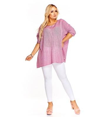 Oversiz'owy sweter  różowy