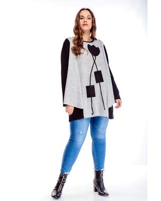 sweter z narzutką multikolor