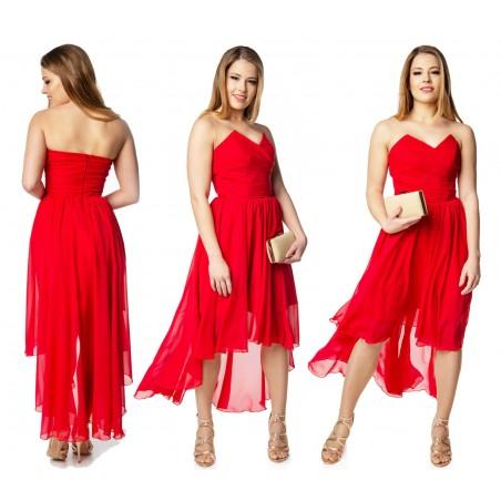 Gorsetowa szyfonowa sukienka CAMILL 210B 1