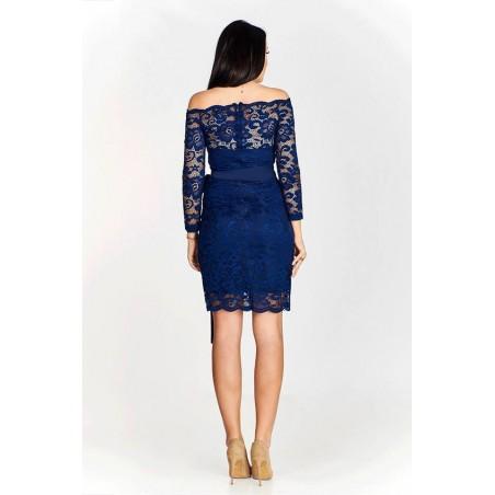 Nowoczesna mała czarna ołówkowa sukienka Camill 278 1
