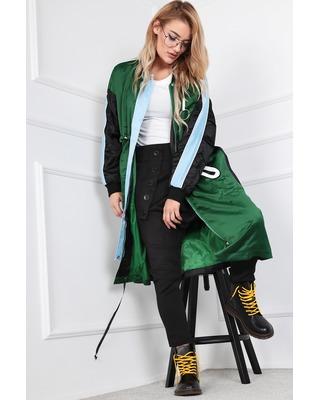 bawełniany płaszcz zielony