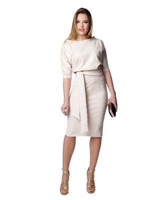 Wygodna pastelowa sukienka  o kobiecym fasonie  Camill 353