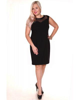 Czarna sukienka z koronkową...
