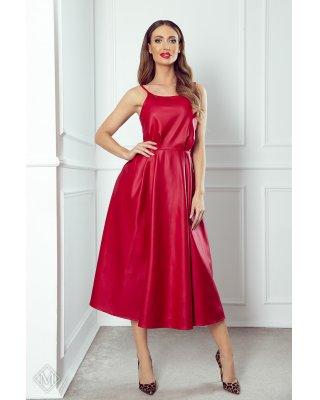 rozkloszowana sukienka midi...