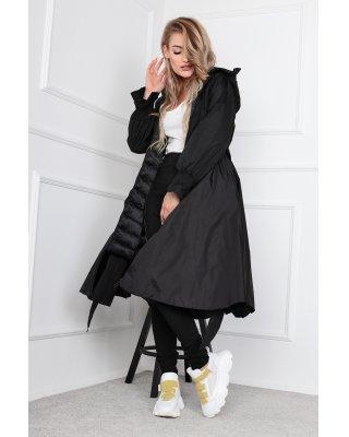 płaszcz z rozkloszowanym...