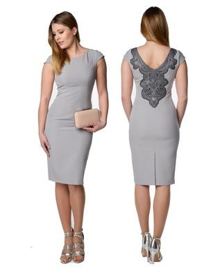 Wąska sukienka z koronkowymi plecami Camill 355