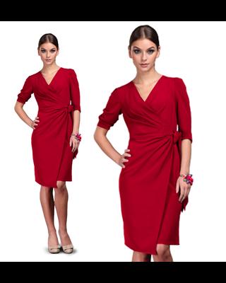 Czerwona Kopertowa sukienka...